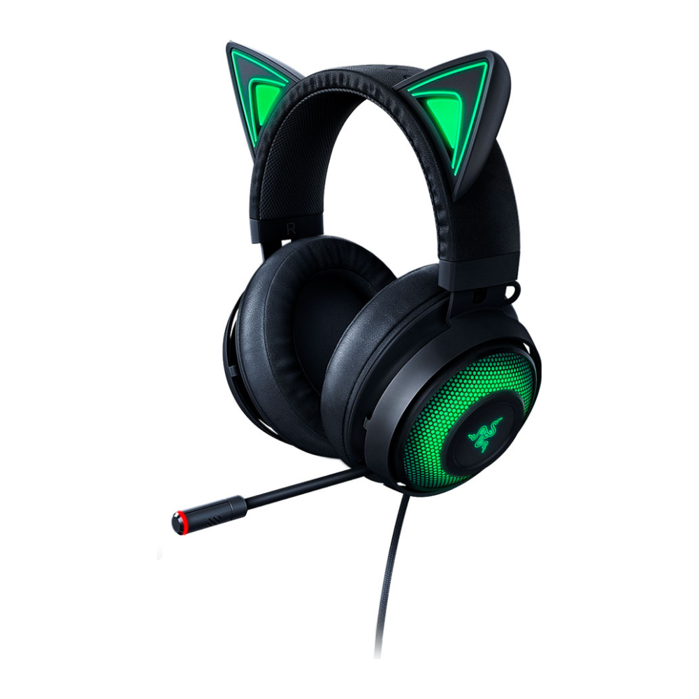 A large main feature product image of Razer Kraken Kitty - Chroma USB Gaming Headset - Black