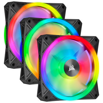 Product image of Corsair iCue QL120 120mm RGB PWM Triple Fan Pack - Click for product page of Corsair iCue QL120 120mm RGB PWM Triple Fan Pack