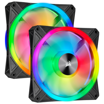 Product image of Corsair iCue QL140 140mm RGB PWM Dual Fan Kit - Click for product page of Corsair iCue QL140 140mm RGB PWM Dual Fan Kit