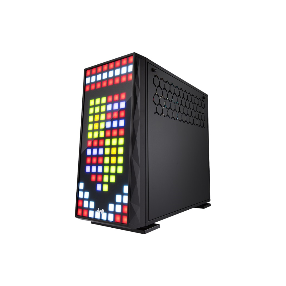 A large main feature product image of InWin 309 RGB Mid Tower Case w/ Tempered Glass Side Panel