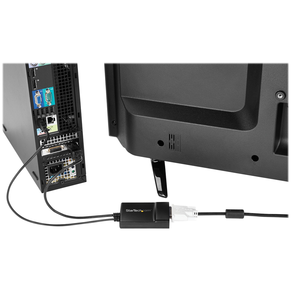 A large main feature product image of Startech DisplayPort to DVI Dual Link Active Adapter