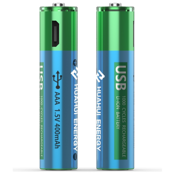 Product image of HUAHUI Two AAA USB Rechargeable Lithium 600mWh Battery Pack - Click for product page of HUAHUI Two AAA USB Rechargeable Lithium 600mWh Battery Pack