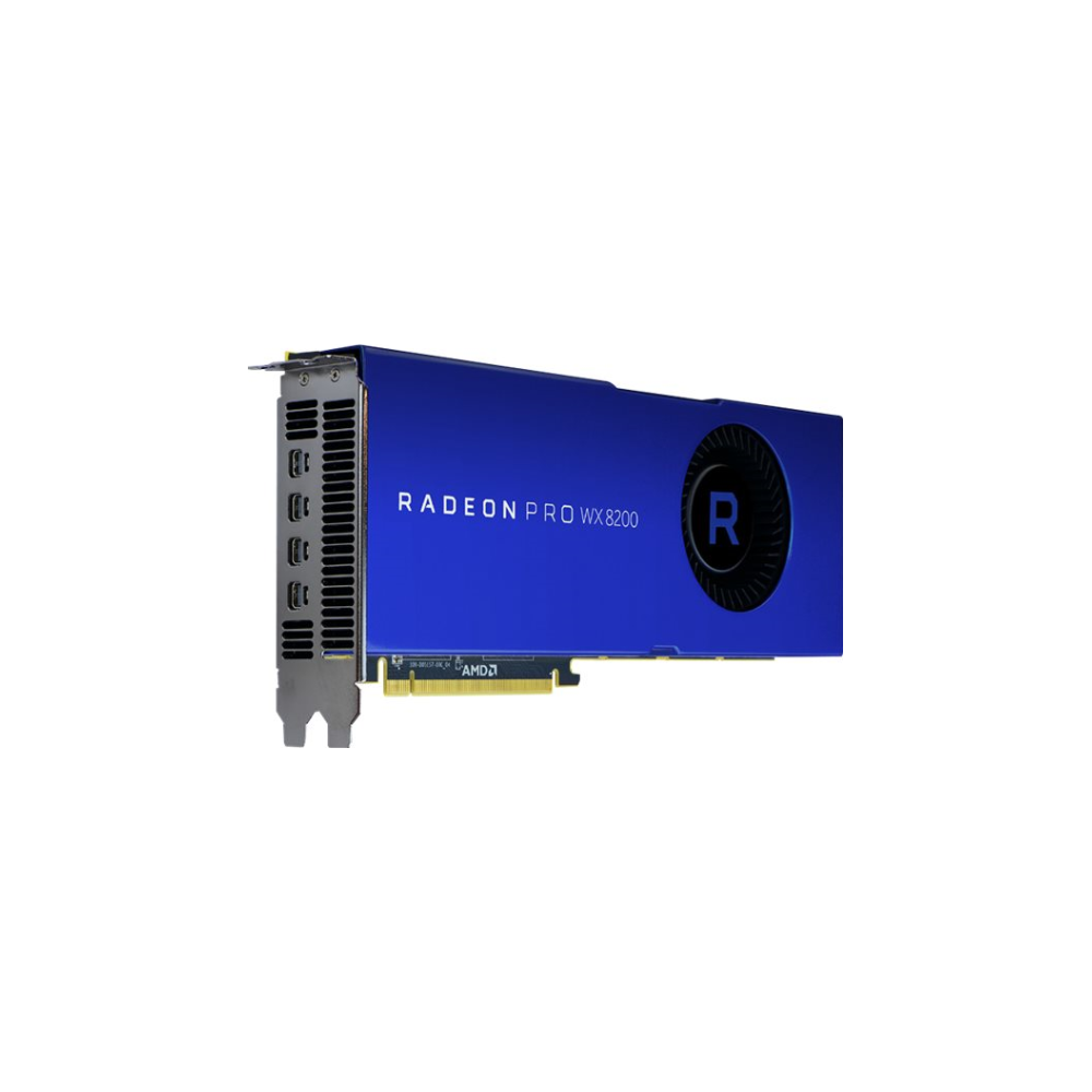 A large main feature product image of AMD Radeon Pro WX 8200 8GB HDM2
