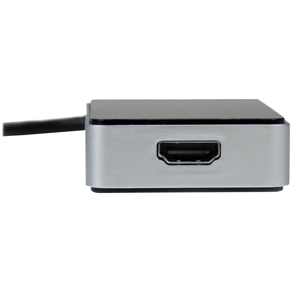 A large main feature product image of Startech USB3.0 to HDMI Adapter w/ 1 Port USB Hub