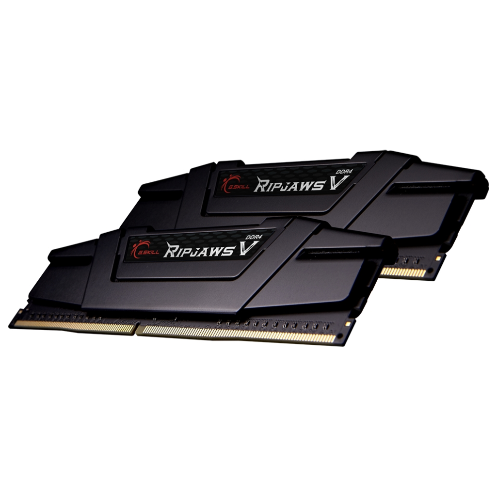A large main feature product image of G.Skill 64GB Kit (2x32GB) DDR4 Ripjaws V C18 2666Mhz