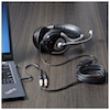 A product image of Startech Headset Adapter w/Headphone & Microphone Inputs