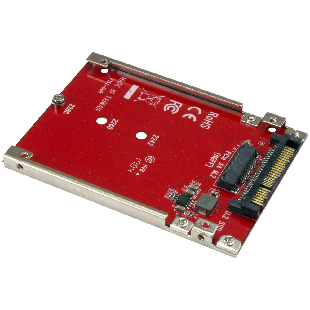 A large main feature product image of Startech M.2 to U.2 (SFF-8639) Adapter for M.2 PCIe NVMe SSDs