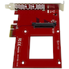 "A product image of Startech U.2 to PCIe Adapter - 2.5"" U.2 NVMe SSD - SFF-8639 - x4 PCIe"