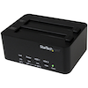 A product image of Startech USB3.0 to 2.5 / 3.5in SATA HDD Duplicator Dock and Eraser
