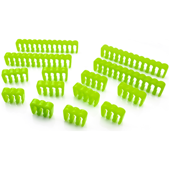 Product image of GamerChief Cable Comb Set ABS - Green - Click for product page of GamerChief Cable Comb Set ABS - Green