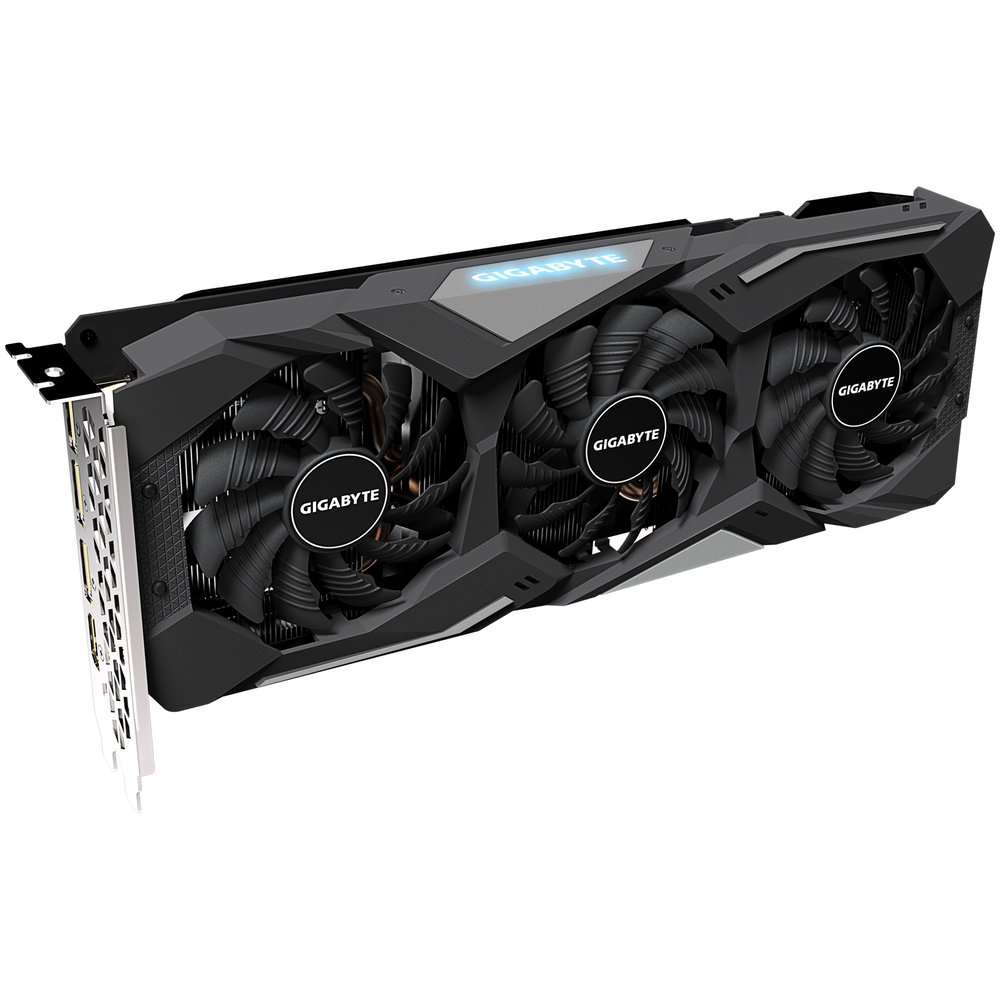 A large main feature product image of Gigabyte Radeon RX 5500 XT GAMING OC 8GB GDDR6
