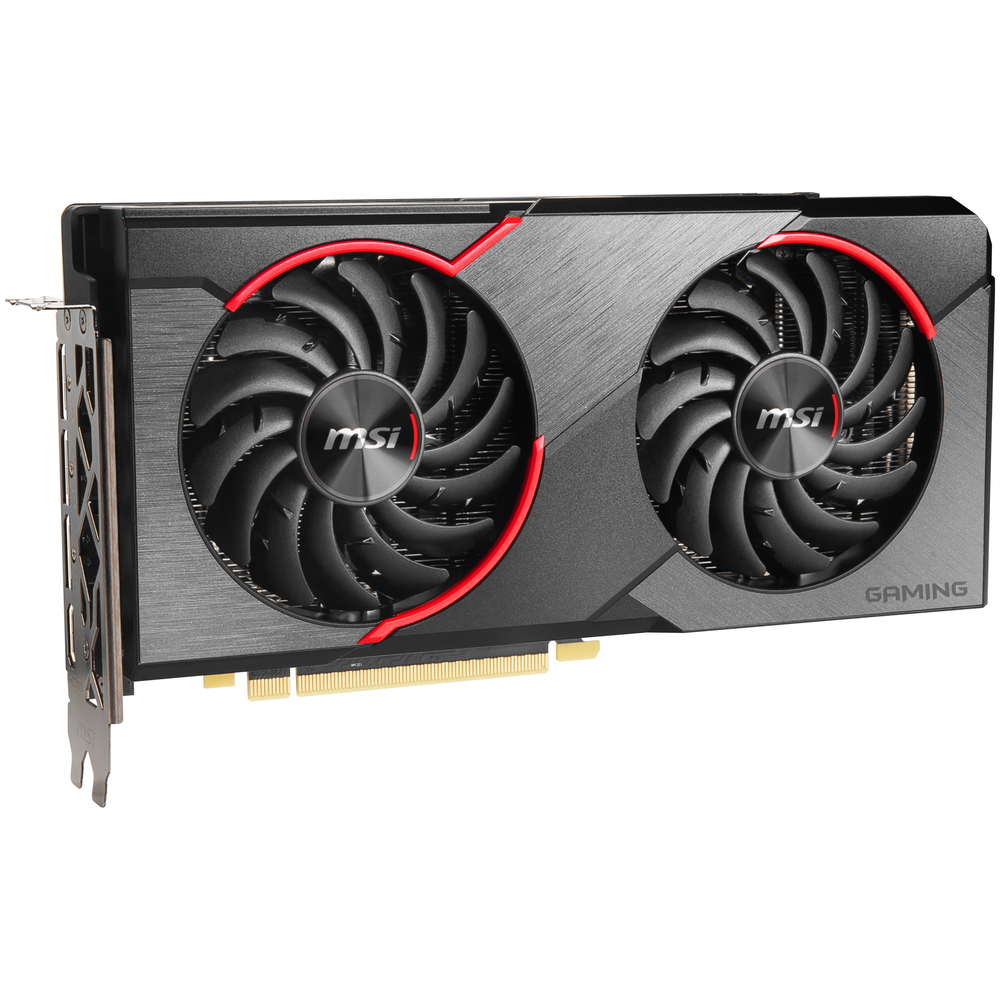A large main feature product image of MSI Radeon RX 5500 XT Gaming X 8GB GDDR6