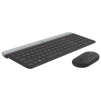 Product image of Logitech MK470 Slim Wireless Keyboard & Mouse Combo - Graphite - Click for product page of Logitech MK470 Slim Wireless Keyboard & Mouse Combo - Graphite
