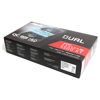 Product image of ASUS Radeon Radeon 5500 XT Dual EVO OC Edition 8GB GDDR6 - Click for product page of ASUS Radeon Radeon 5500 XT Dual EVO OC Edition 8GB GDDR6
