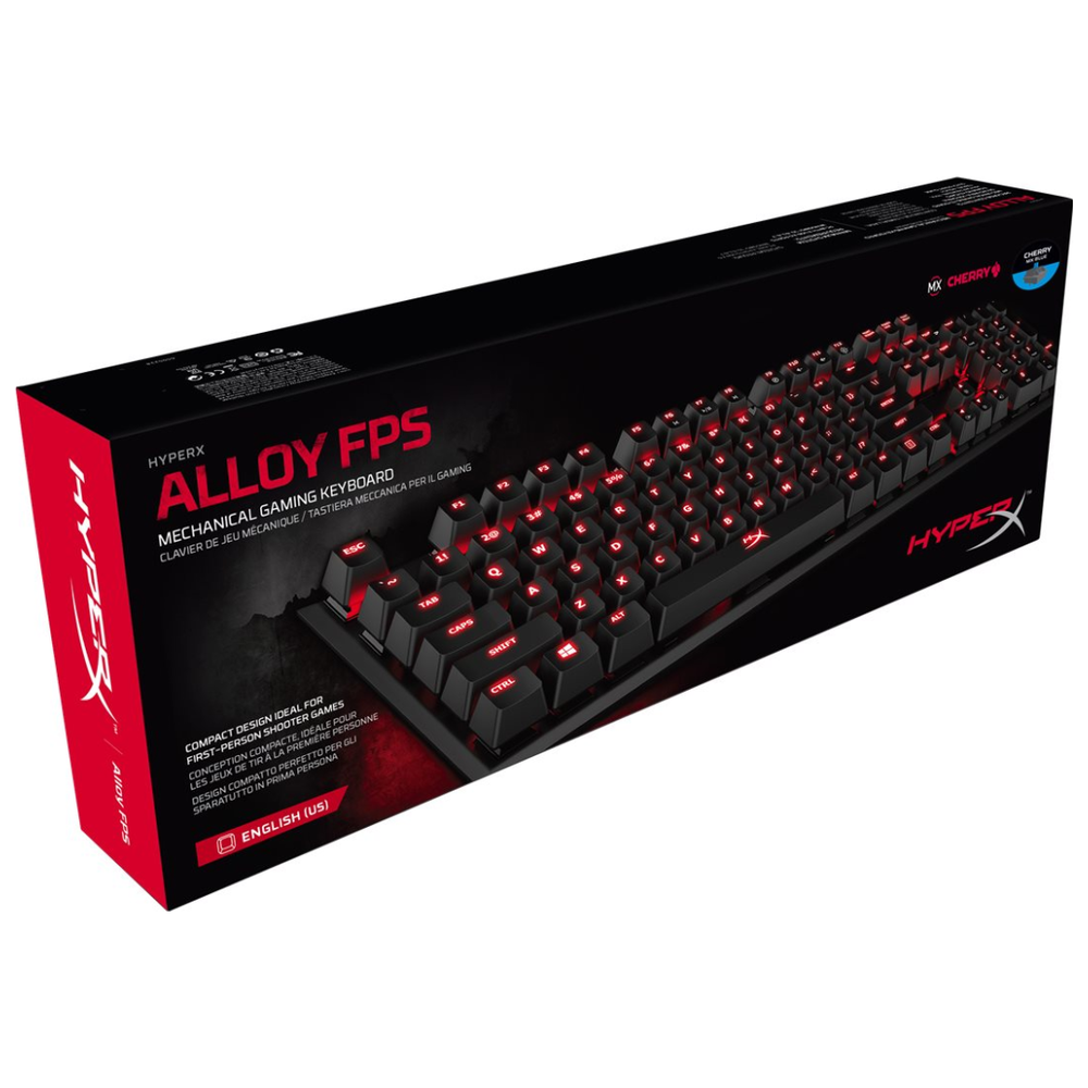 A large main feature product image of Kingston HyperX Alloy FPS Mechanical Gaming Keyboard (MX Red Switch)
