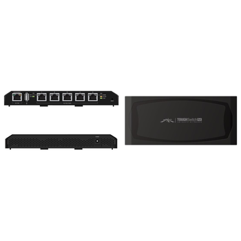 Product image of Ubiquiti ToughSwitch 5port PoE Gigabit Managed Switch - Click for product page of Ubiquiti ToughSwitch 5port PoE Gigabit Managed Switch