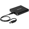 A product image of Startech Dual M.2 SATA Enclosure - RAID - USB 3.1 Gen 2 USB C / USB A