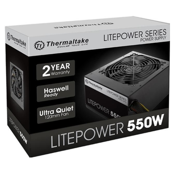 Product image of Thermaltake Litepower GEN2 550W Power Supply - Click for product page of Thermaltake Litepower GEN2 550W Power Supply