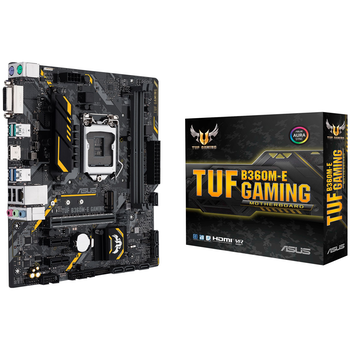Product image of ASUS TUF B360M-E Gaming LGA1151-CL mATX Desktop Motherboard - Click for product page of ASUS TUF B360M-E Gaming LGA1151-CL mATX Desktop Motherboard