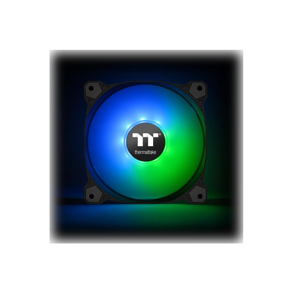 A large main feature product image of Thermaltake Pure 12 120mm ARGB Sync Radiator Fan TT Premium Edition (3-Fan Pack)