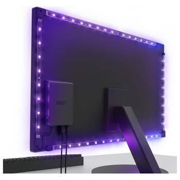 """Product image of NZXT Hue 2 Ambient RGB 21""""-25"""" 34""""-35"""" Ultrawide Monitor Lighting Kit - Click for product page of NZXT Hue 2 Ambient RGB 21""""-25"""" 34""""-35"""" Ultrawide Monitor Lighting Kit"""