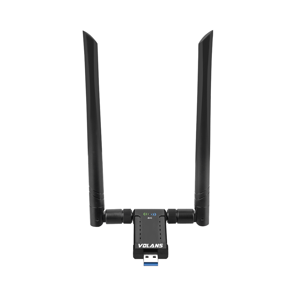 A large main feature product image of Volans AC1900 High Gain Wireless Dual Band USB Adapter