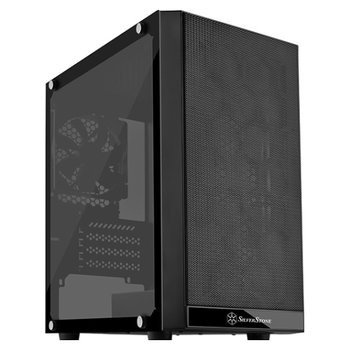 Product image of SilverStone PS15 Black mATX Tower Case w/Tempered Glass Side Panel - Click for product page of SilverStone PS15 Black mATX Tower Case w/Tempered Glass Side Panel