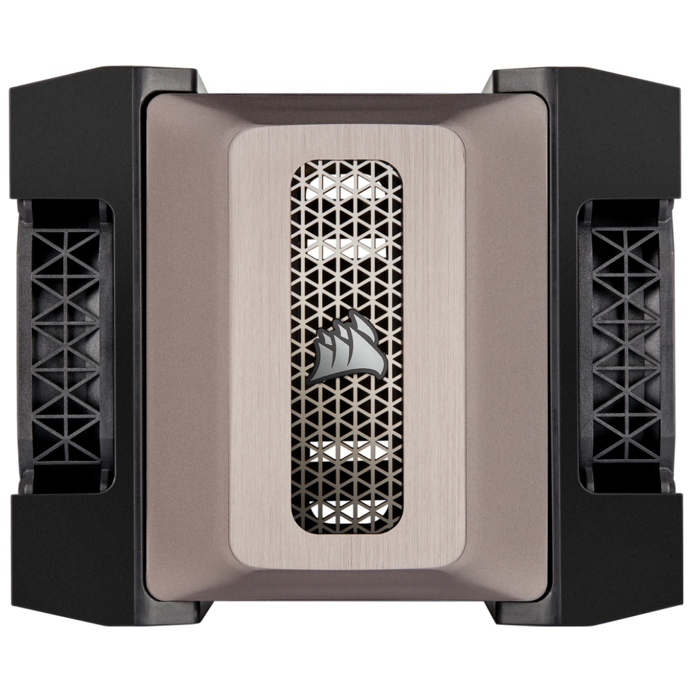 A large main feature product image of Corsair A500 High Performance Dual Fan CPU Cooler