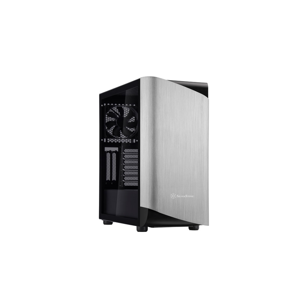 A large main feature product image of SilverStone SETA A1 Titanium Mid Tower Case w/Tempered Glass Side Panel