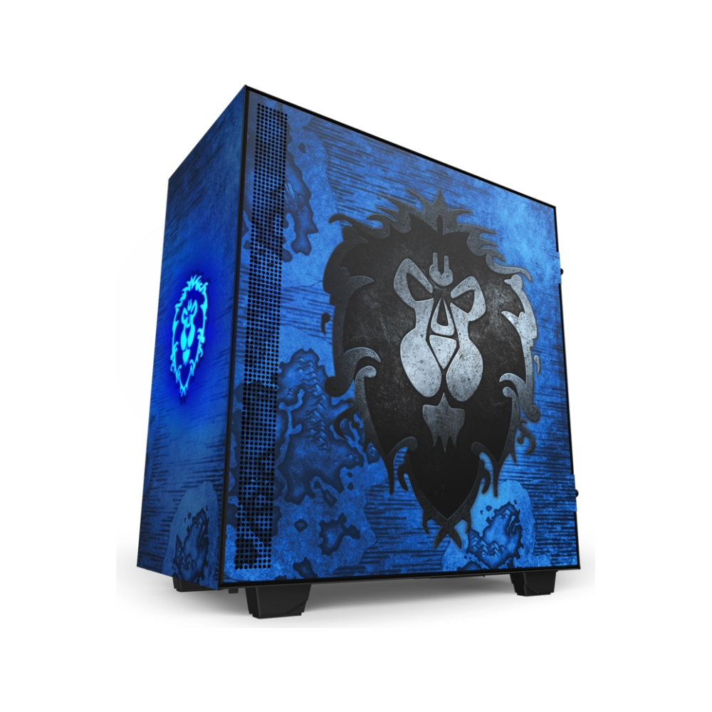 A large main feature product image of NZXT H510 World Of Warcraft Alliance Limited Edition Mid Tower Case