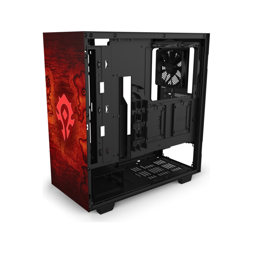 A large main feature product image of NZXT H510 World Of Warcraft Horde Limited Edition Mid Tower Case