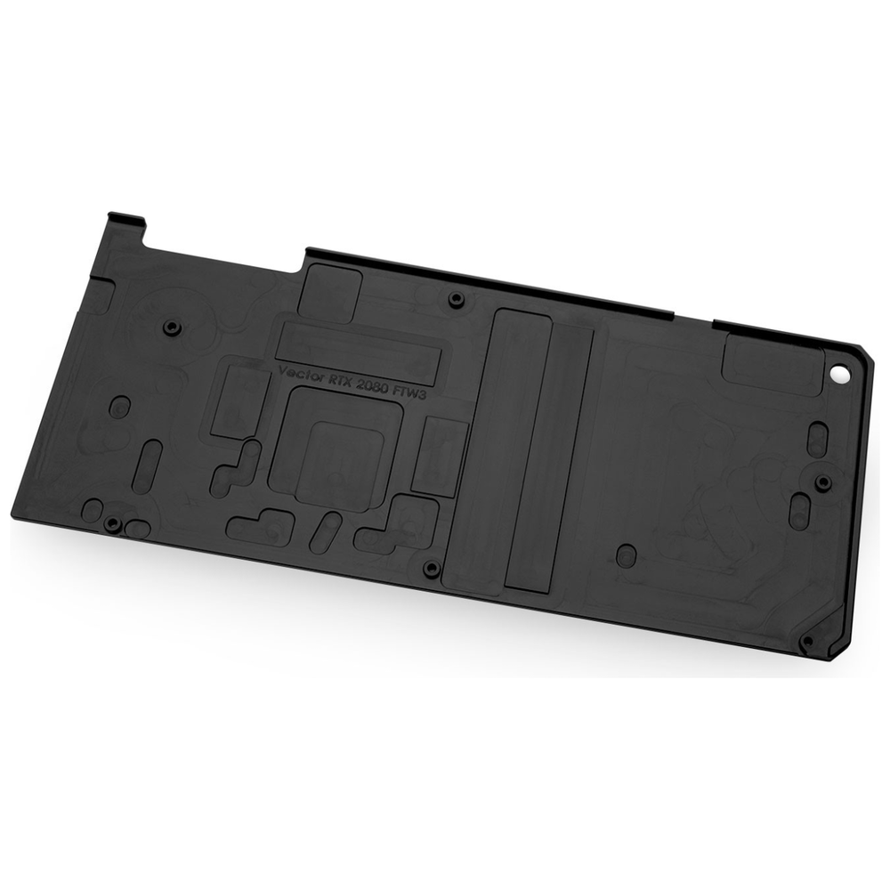 A large main feature product image of EK Vector FTW3 RTX 2080 Backplate - Black