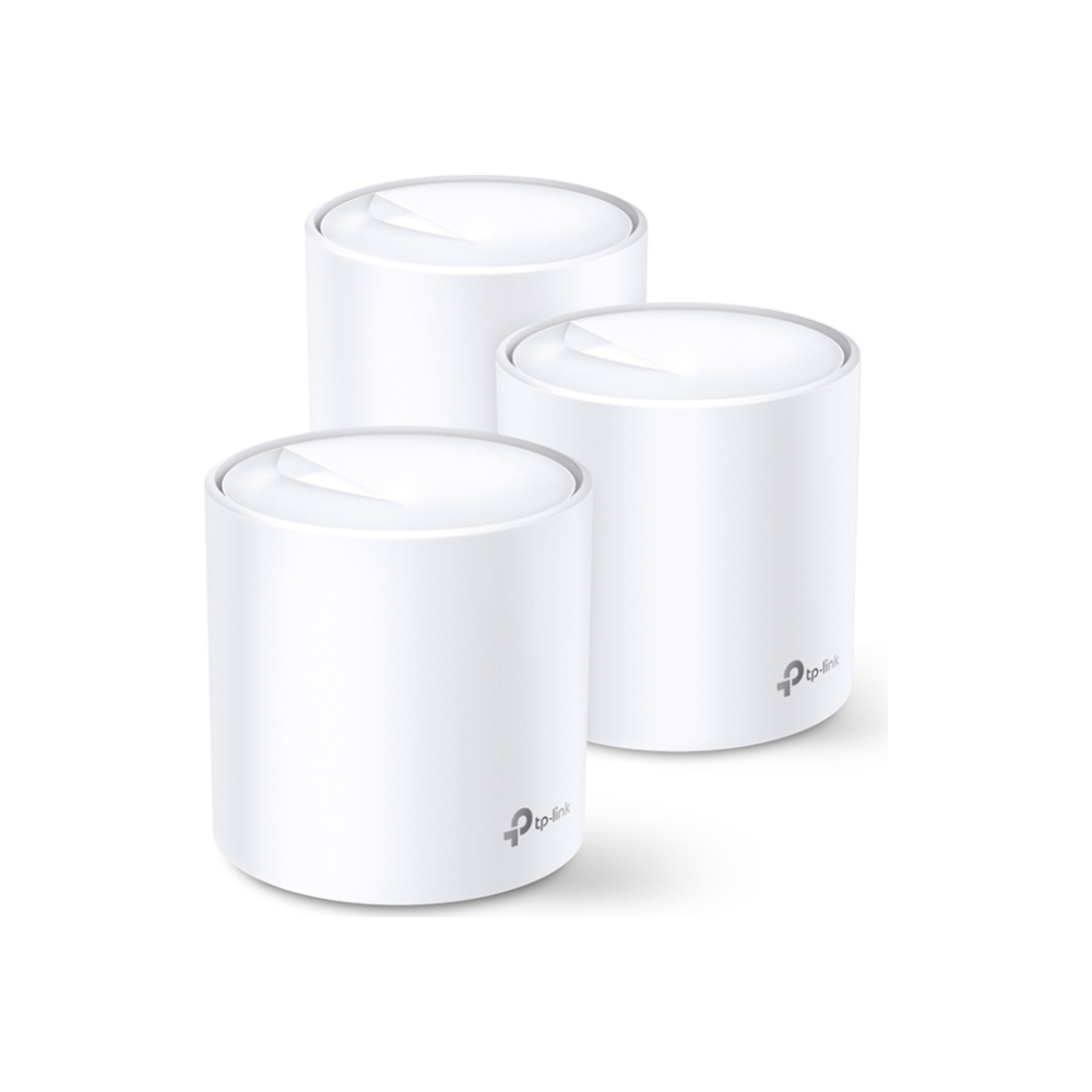 A large main feature product image of TP-LINK Deco X20 AX1800 Home Mesh Wireless System (3-pack)