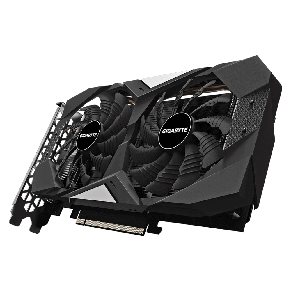 A large main feature product image of Gigabyte Radeon RX 5600 XT WINDFORCE OC 6GB GDDR6