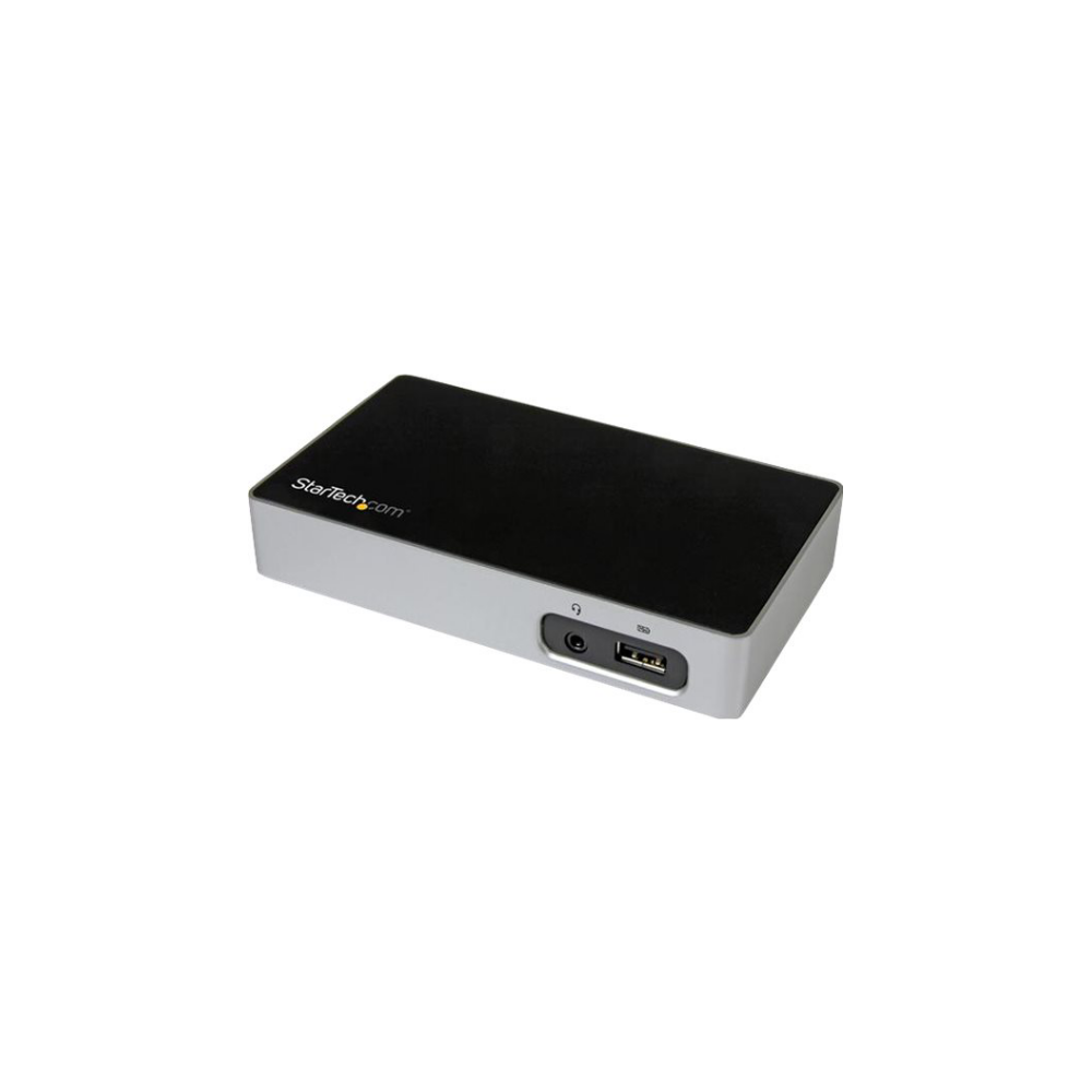 A large main feature product image of Startech Universal USB 3.0 Laptop Docking Station for Hot Desks - DVI