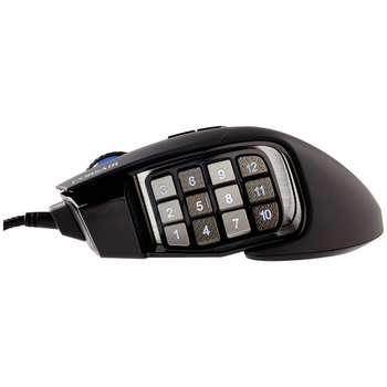 Product image of Corsair Scimitar RGB Elite Black Gaming Mouse - Click for product page of Corsair Scimitar RGB Elite Black Gaming Mouse