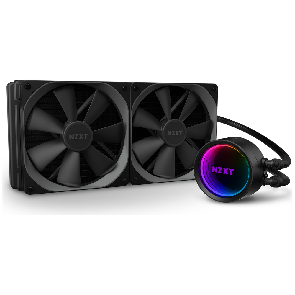 A large main feature product image of NZXT Kraken X63 280mm AIO Liquid CPU Cooler