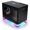 A product image of InWin A1 Plus Black Mini-ITX Case w/ Tempered Glass Side Panel