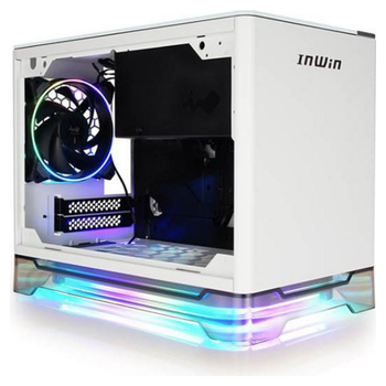 Product image of InWin A1 Plus White Mini-ITX Case w/ Tempered Glass Side Panel - Click for product page of InWin A1 Plus White Mini-ITX Case w/ Tempered Glass Side Panel