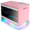 A product image of InWin A1 Plus Pink Mini-ITX Case w/ Tempered Glass Side Panel