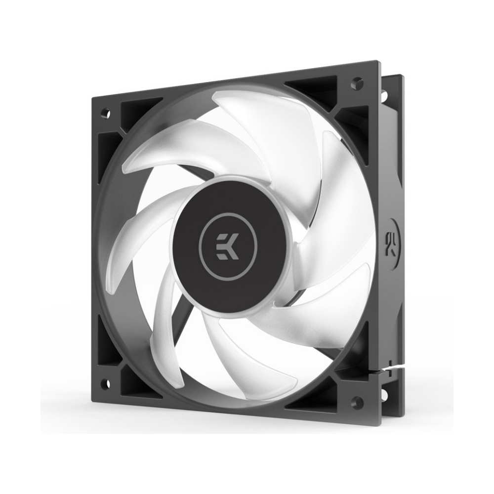A large main feature product image of EK AIO 120 D-RGB AIO Liquid CPU Cooler