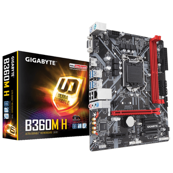 Product image of EX-DEMO Gigabyte B360M H LGA1151-CL mATX Desktop Motherboard - Click for product page of EX-DEMO Gigabyte B360M H LGA1151-CL mATX Desktop Motherboard