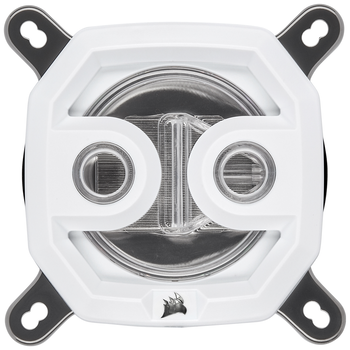 Product image of Corsair Hydro X Series XC7 RGB CPU Waterblock - White - Click for product page of Corsair Hydro X Series XC7 RGB CPU Waterblock - White