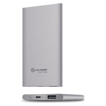 Product image of ALOGIC Elite USB Type-C 5200mAh Ultra Portable Power Bank (Dual Output & Smart Charge) - Silver - Click for product page of ALOGIC Elite USB Type-C 5200mAh Ultra Portable Power Bank (Dual Output & Smart Charge) - Silver
