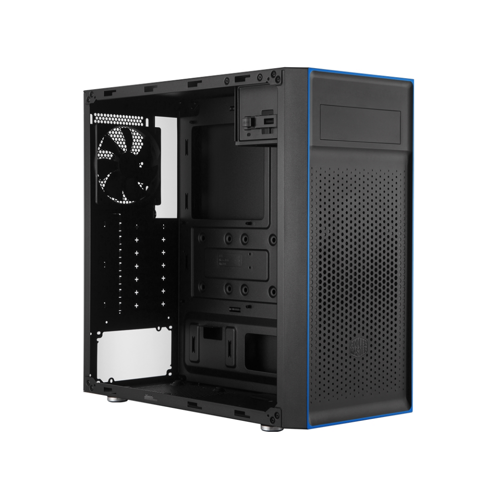 A large main feature product image of Cooler Master MasterBox E501L Mid Tower Case w/500W Power Supply
