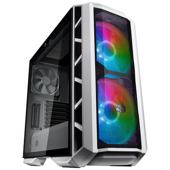 Product image of Cooler Master MasterCase H500P Addressable RGB Mesh Mid Tower Case - White - Click for product page of Cooler Master MasterCase H500P Addressable RGB Mesh Mid Tower Case - White