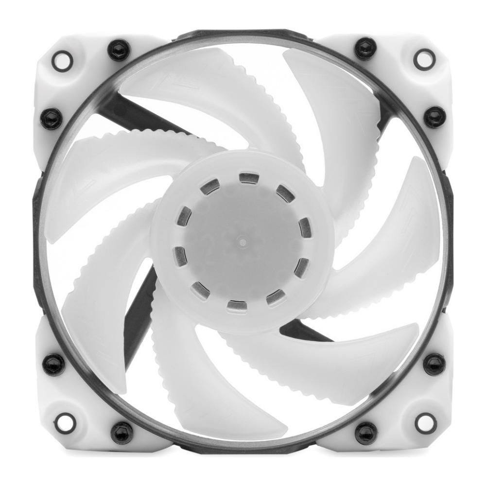 A large main feature product image of EK Vardar X3M 120ER D-RGB 120mm Fan - White