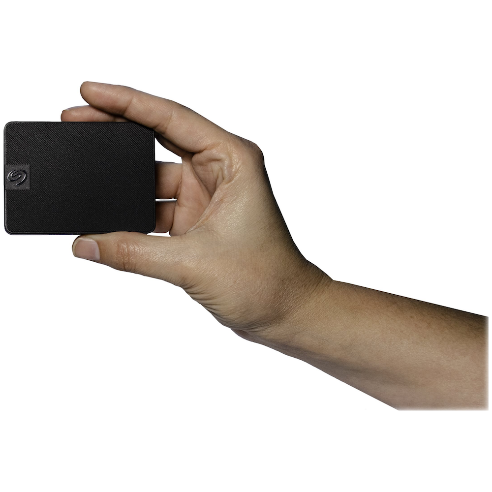 A large main feature product image of Seagate Expansion 500GB External SSD