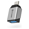 A product image of ALOGIC Ultra Mini USB 3.1 (Gen 1) USB-C to USB-A Adapter - Silver