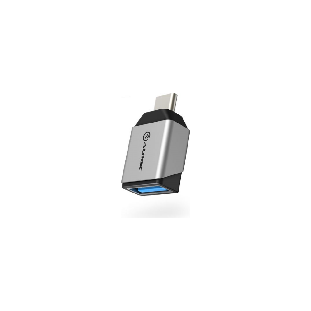 A large main feature product image of ALOGIC Ultra Mini USB 3.1 (Gen 1) USB Type-C to USB-A Adapter - Silver
